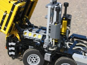 RC ing Technology Building Block Gear Machine Moc 0230 Dump Truck 10x4 Truck Loading Remote Control 2 - MOC FACTORY