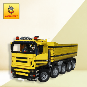 moc 0230 dump truck 10x4 truck loading remote control by designer han 074116 1 - MOC FACTORY