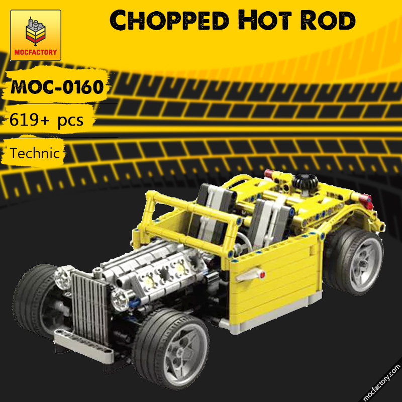 MOC 0160 Chopped Hot Rod Technic by Crowkillers MOC FACTORY - MOC FACTORY