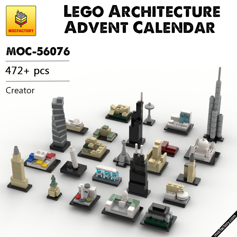 MOC 56076 Lego Architecture Advent Calendar Creator by klosspalatset MOC FACTORY - MOC FACTORY