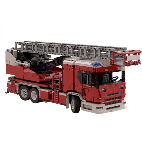 MOC 60361 Scania L fire engine with turntable ladder full RC Technic by Furchtis MOC FACTORY 2 - MOC FACTORY