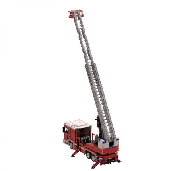 MOC 60361 Scania L fire engine with turntable ladder full RC Technic by Furchtis MOC FACTORY 5 - MOC FACTORY
