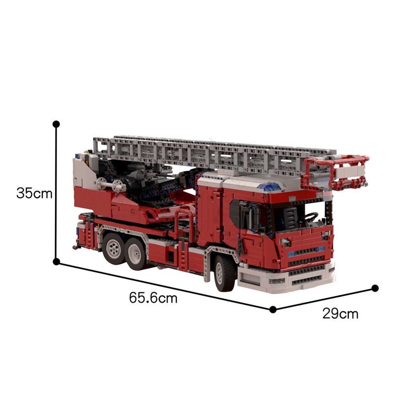 MOC 60361 Scania L fire engine with turntable ladder full RC Technic by Furchtis MOC FACTORY 6 - MOC FACTORY