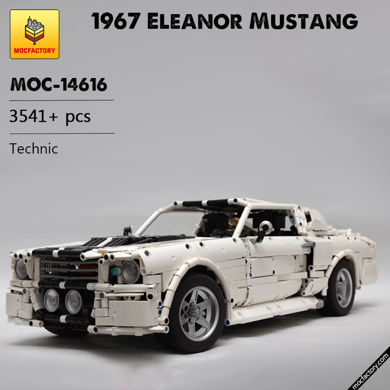 MOC 14616 1967 Eleanor Mustang Technic by Loxlego MOC FACTORY - MOC FACTORY