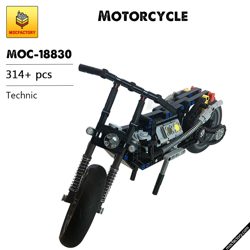 MOC 18830 Motorcycle Technic by MP Factory MOC FACTORY - MOC FACTORY