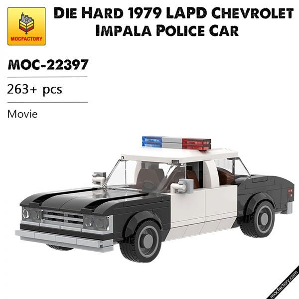 MOC 22397 Die Hard 1979 LAPD Chevrolet Impala Police Car Movie by mkibs MOC FACTORY - MOC FACTORY