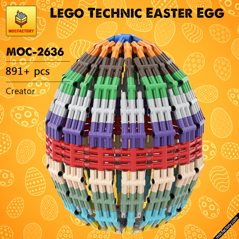 MOC 2636 Lego Technic Easter Egg Creator by DLuders MOC FACTORY - MOC FACTORY