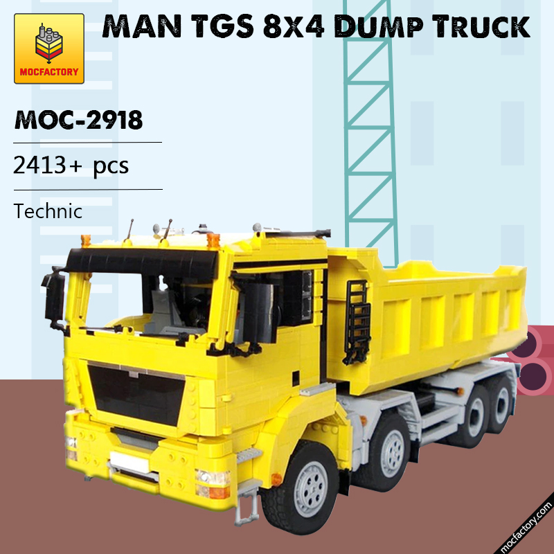 MOC 2918 MAN TGS 8x4 Dump Truck Technic by M longer MOC FACTORY 1 - MOC FACTORY