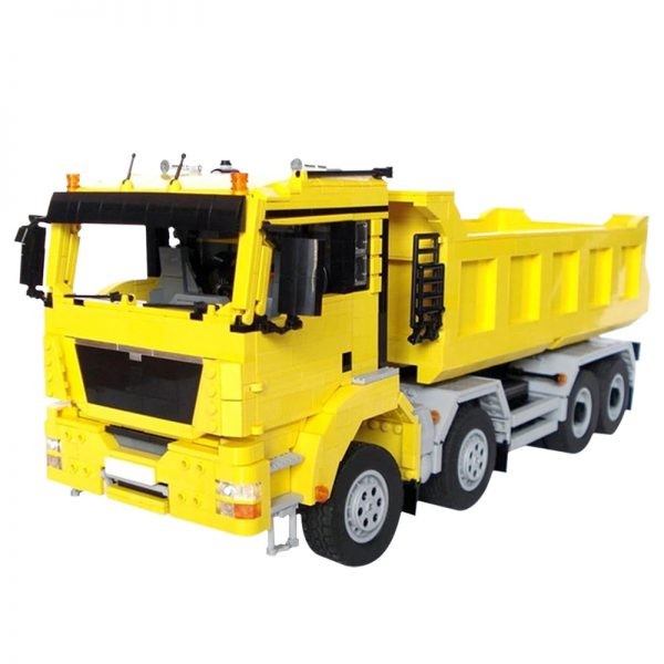 MOC 2918 MAN TGS 8x4 Dump Truck Technic by M longer MOC FACTORY 2 - MOC FACTORY