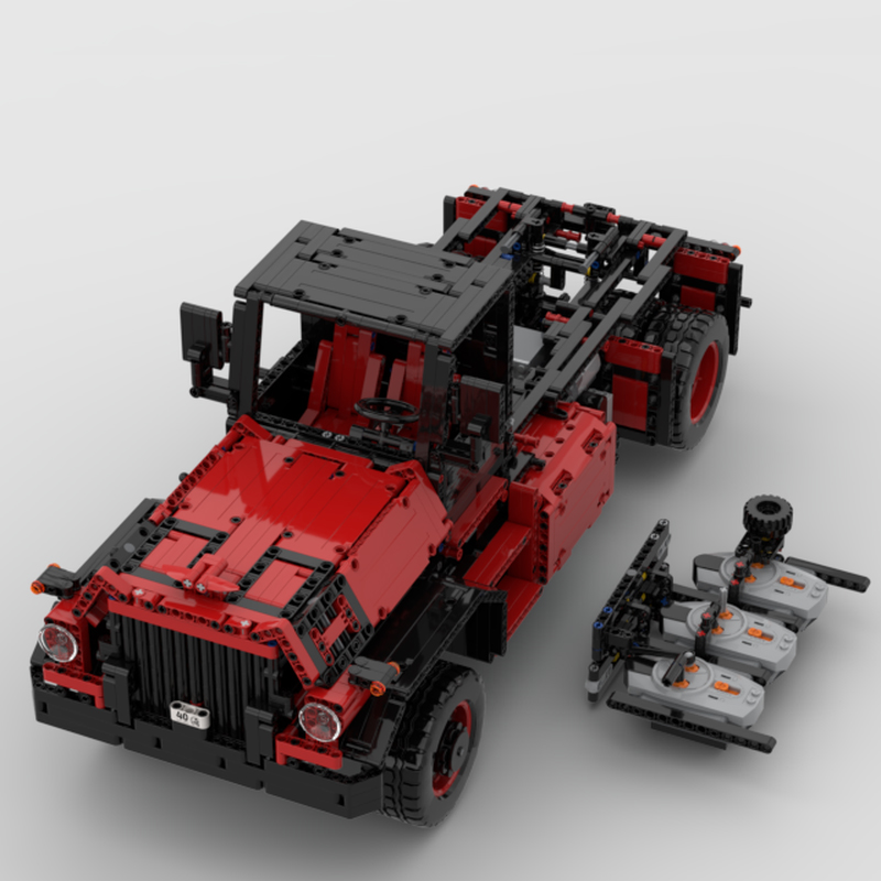 MOC 31430 Us Truck with 32 Speed Gearbox Fully RC Technic by B4 MOC FACTORY 2 - MOC FACTORY