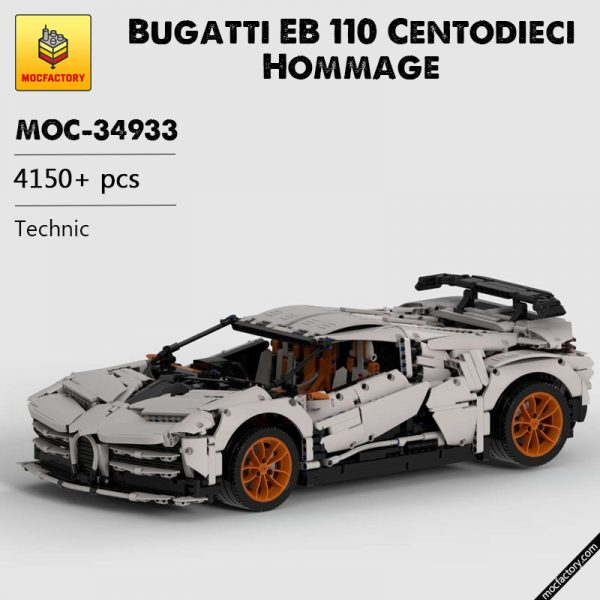 MOC 34933 Bugatti EB 110 Centodieci Hommage Technic by The one from the Swabian MOC FACTORY - MOC FACTORY