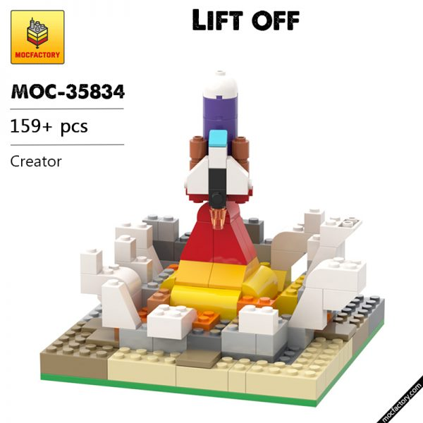 MOC 35834 Lift off Creator by BrickBrush MOC FACTORY - MOC FACTORY