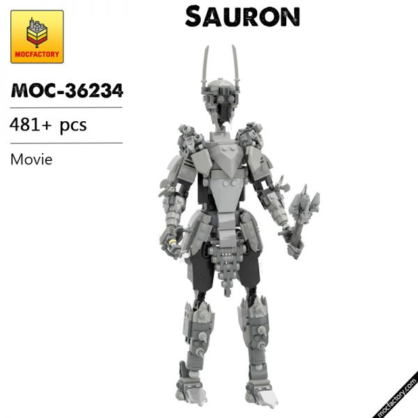 MOC 36234 Sauron The lord of the Ring Movie by buildbetterbricks MOC FACTORY - MOC FACTORY
