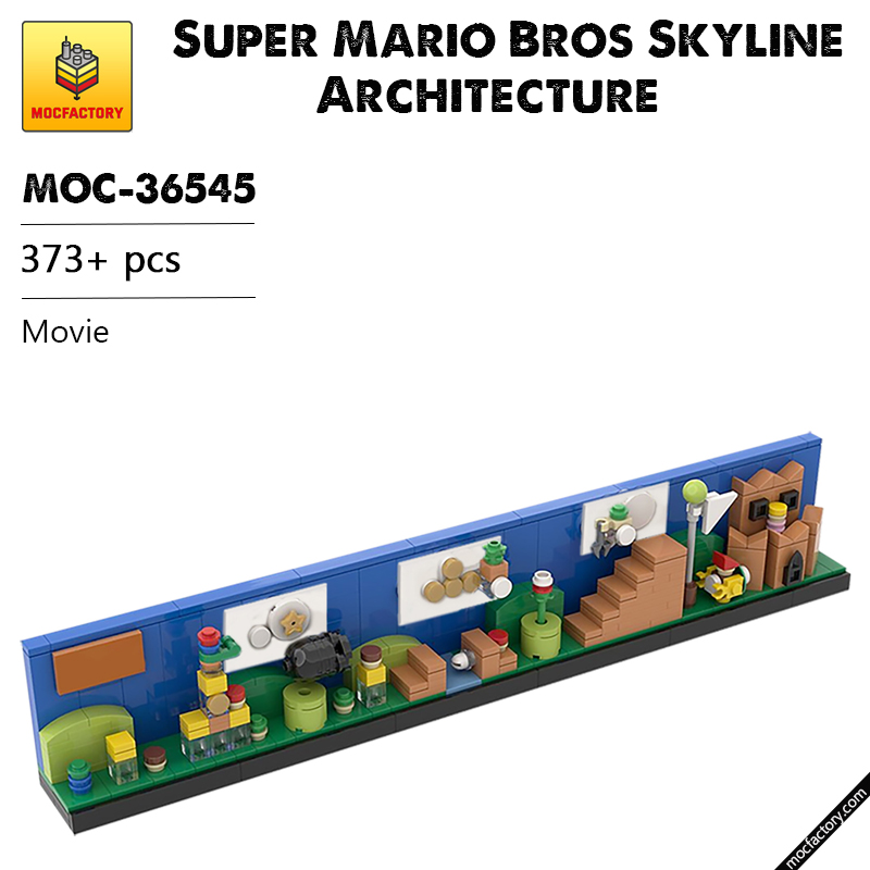 MOC 36545 Super Mario Bros Skyline Architecture Movie by MOMAtteo79 MOC FACTORY - MOC FACTORY