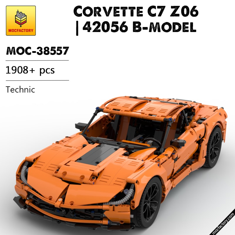 MOC 38557 Corvette C7 Z06 42056 B model Technic by GeyserBricks MOC FACTORY - MOC FACTORY