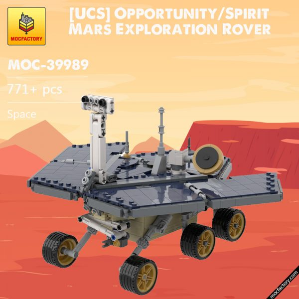 MOC 39989 UCS OpportunitySpirit Mars Exploration Rover Space by MuscoviteSandwich MOC FACTORY - MOC FACTORY