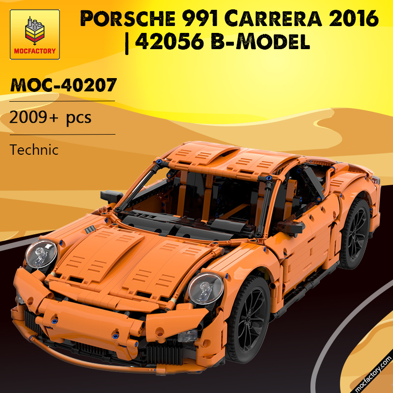 MOC 40207 Porsche 991 Carrera 2016 42056 B Model Technic by GeyserBricks MOC FACTORY - MOC FACTORY
