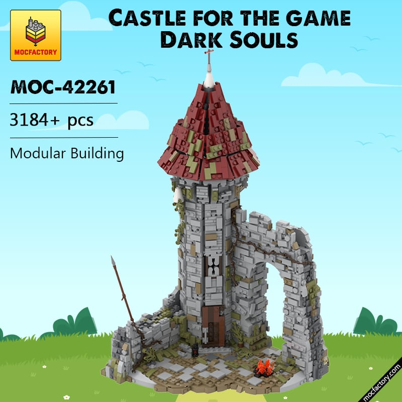 MOC 42261 Castle for the game Dark Souls Modular Building by povladimir MOC FACTORY - MOC FACTORY