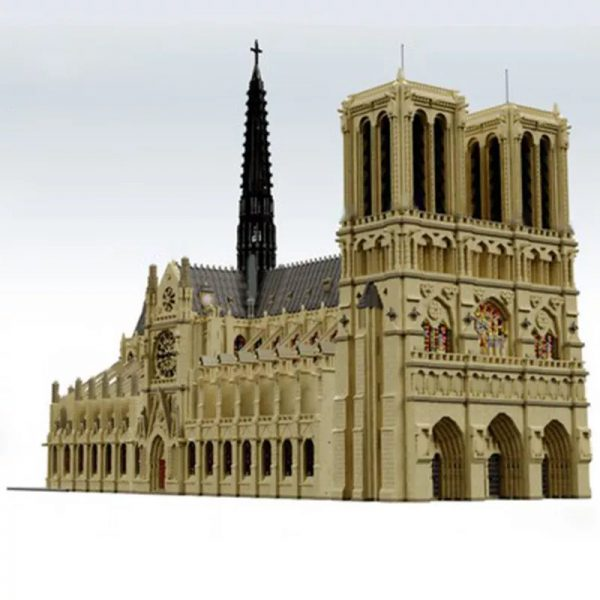 MOC 43974 Notre Dame de Paris in France Modular Building Dimension by STEBRICK MOCFACTORY 2 - MOC FACTORY