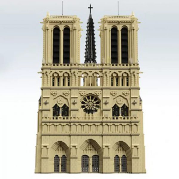 MOC 43974 Notre Dame de Paris in France Modular Building Dimension by STEBRICK MOCFACTORY 3 - MOC FACTORY