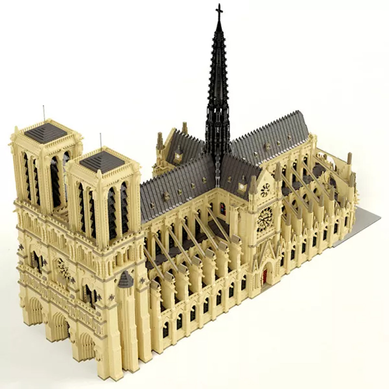 MOC 43974 Notre Dame de Paris in France Modular Building Dimension by STEBRICK MOCFACTORY 4 - MOC FACTORY
