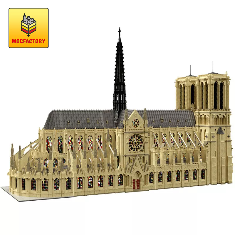 MOC 43974 Notre Dame de Paris in France Modular Building Dimension by STEBRICK MOCFACTORY - MOC FACTORY