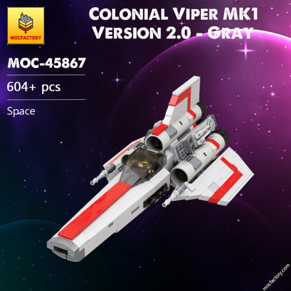 MOC 45867 Colonial Viper MK1 Version 20 Gray Space by apenello MOC FACTORY - MOC FACTORY