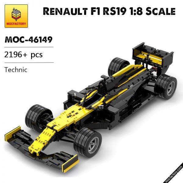 MOC 46149 Renault F1 RS19 18 Scale Technic by Lukas2020 MOC FACTORY - MOC FACTORY