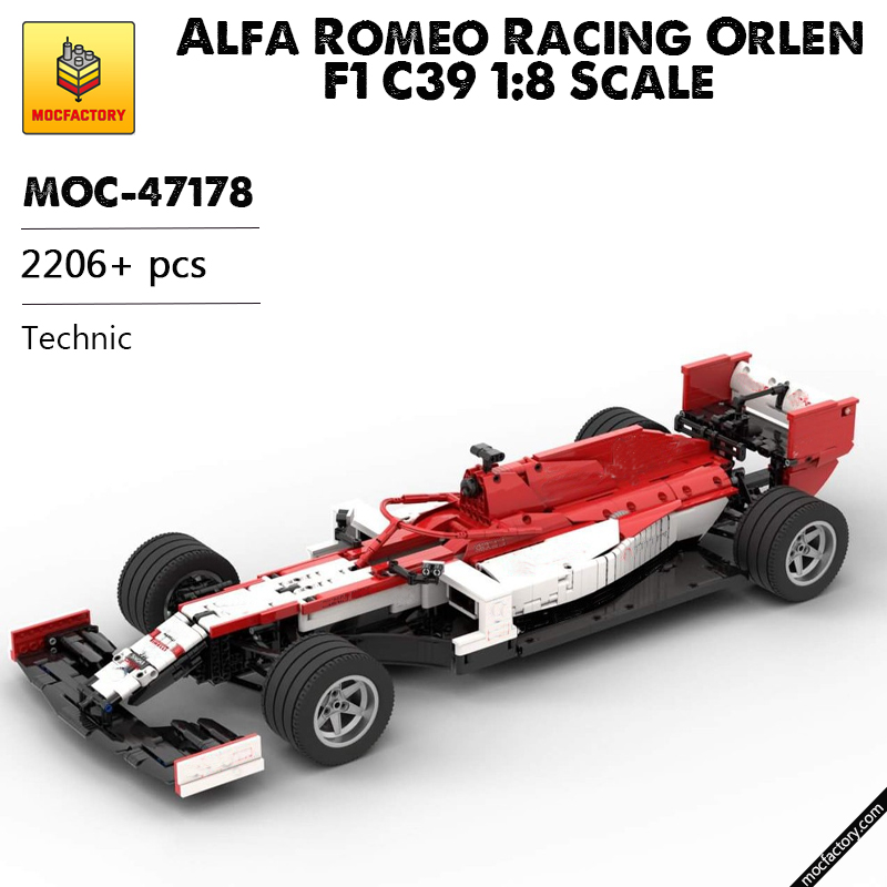 MOC 47178 Alfa Romeo Racing Orlen F1 C39 18 Scale Technic by Lukas2020 MOC FACTORY 6 - MOC FACTORY
