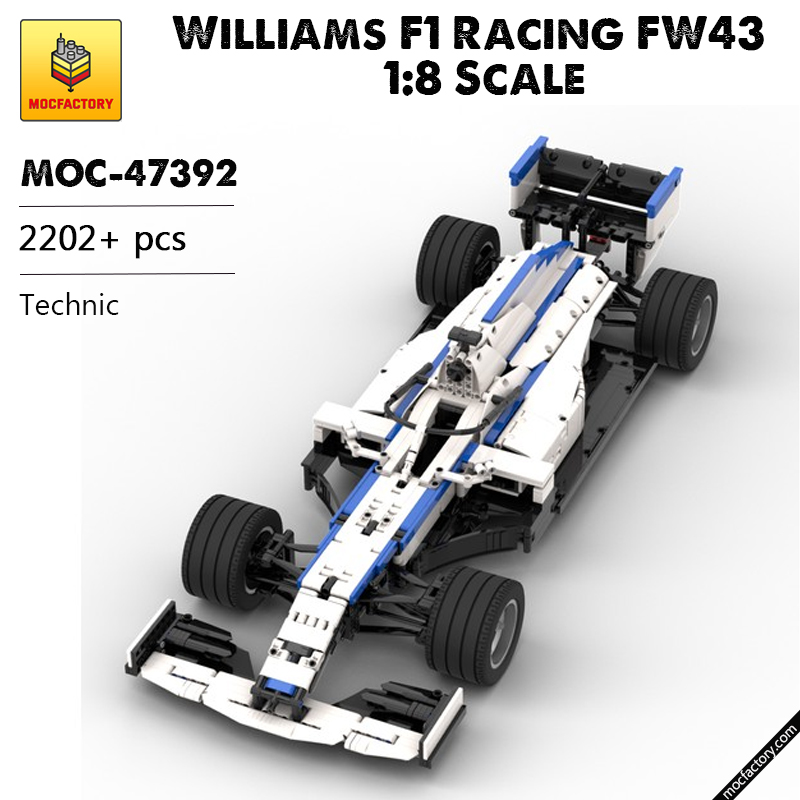 MOC 47392 Williams F1 Racing FW43 18 Scale Technic by Lukas2020 MOC FACTORY - MOC FACTORY