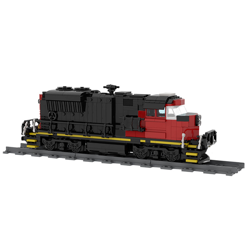 MOC 47989 Cargo Train EMD SD70M 2 CN Train Technic by Oninino MOC FACTORY 2 - MOC FACTORY