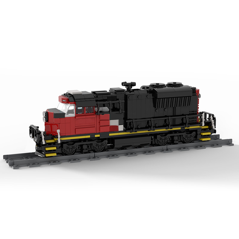 MOC 47989 Cargo Train EMD SD70M 2 CN Train Technic by Oninino MOC FACTORY 3 - MOC FACTORY