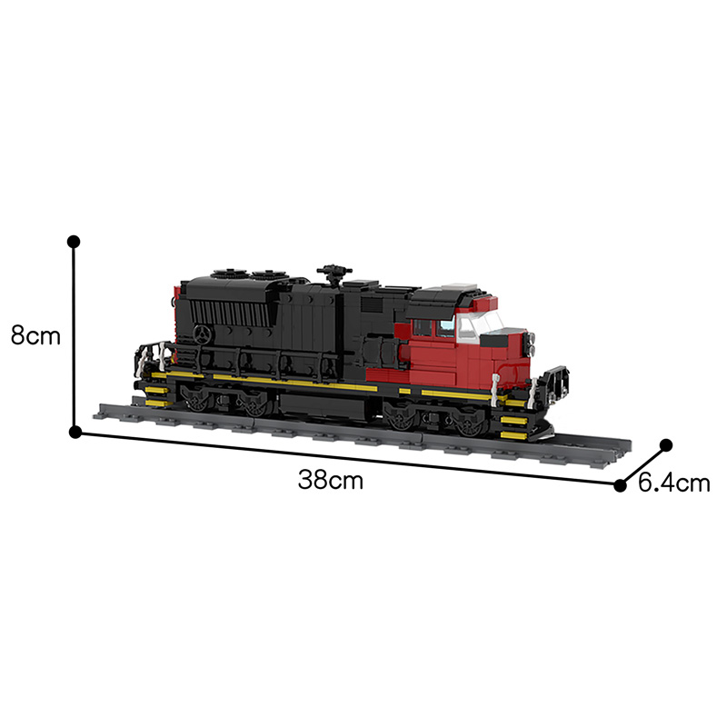 MOC 47989 Cargo Train EMD SD70M 2 CN Train Technic by Oninino MOC FACTORY 5 - MOC FACTORY