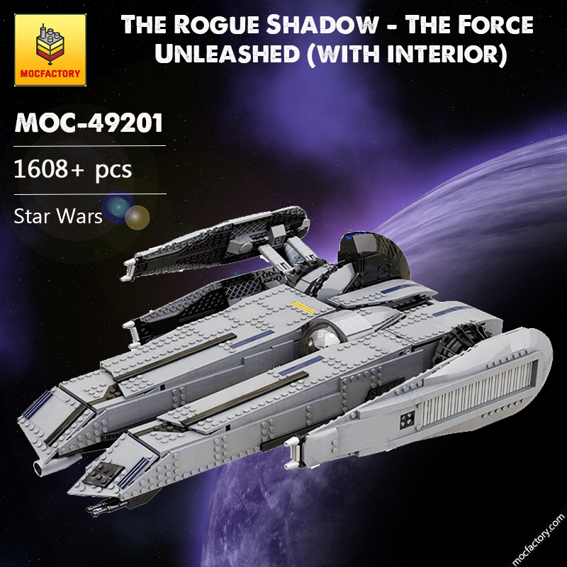 MOC 49201 The Rogue Shadow The Force Unleashed with interior Star Wars by Bruxxy MOC FACTORY - MOC FACTORY