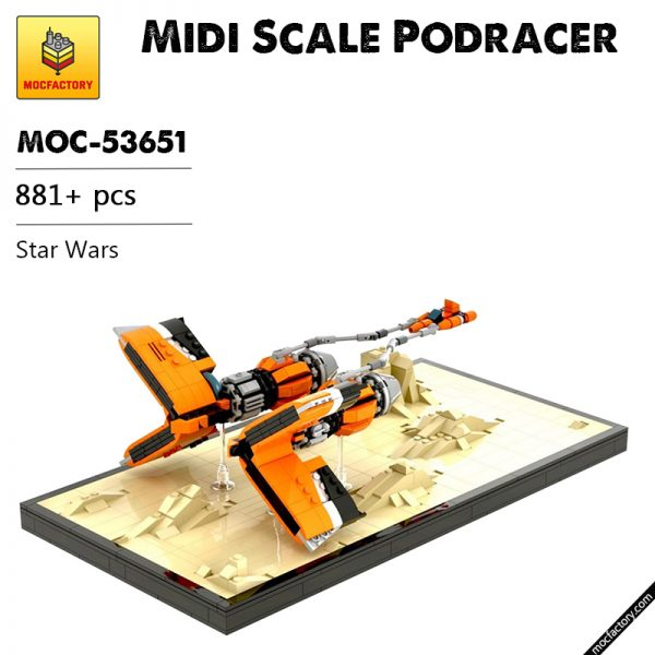 MOC 53651 Midi Scale Podracer Star Wars by Dopey1479 MOC FACTORY - MOC FACTORY