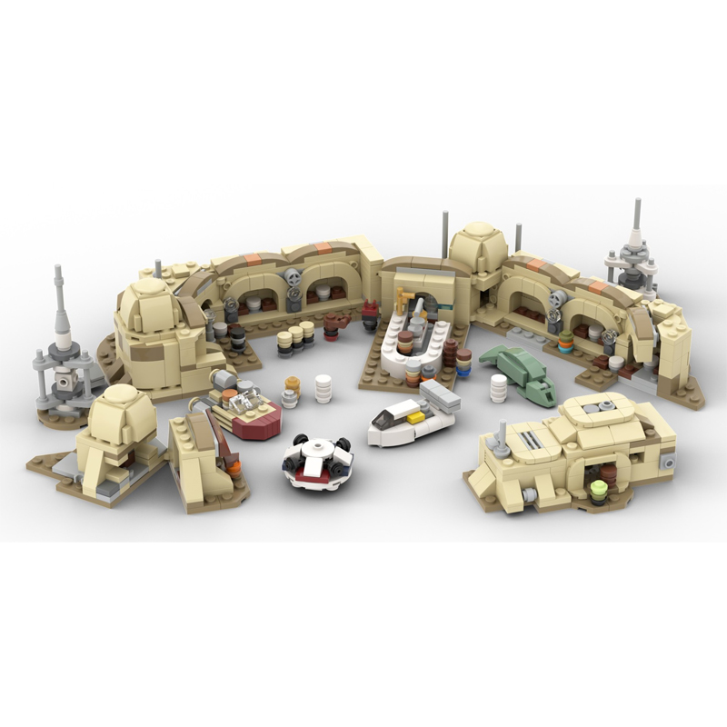 MOC 57537 Micro Mos Eisley Cantina Star Wars by ron mcphatty MOC FACTORY 2 - MOC FACTORY