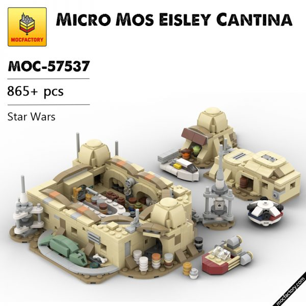 MOC 57537 Micro Mos Eisley Cantina Star Wars by ron mcphatty MOC FACTORY - MOC FACTORY