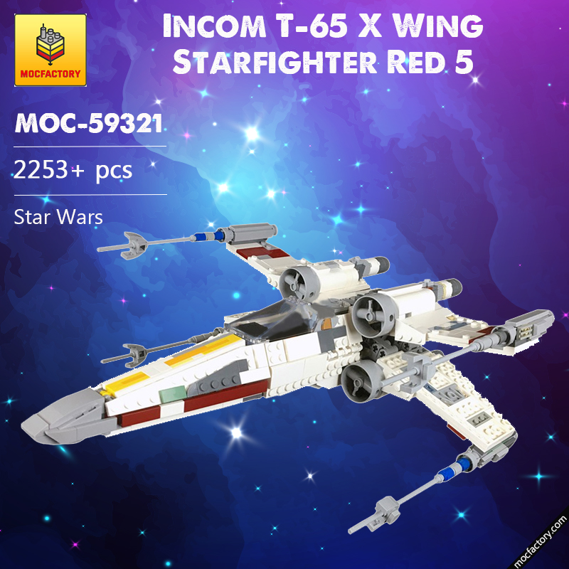 MOC 59321 Incom T 65 X Wing Starfighter Red 5 Star Wars by 2bricksofficial MOC FACTORY 1 - MOC FACTORY