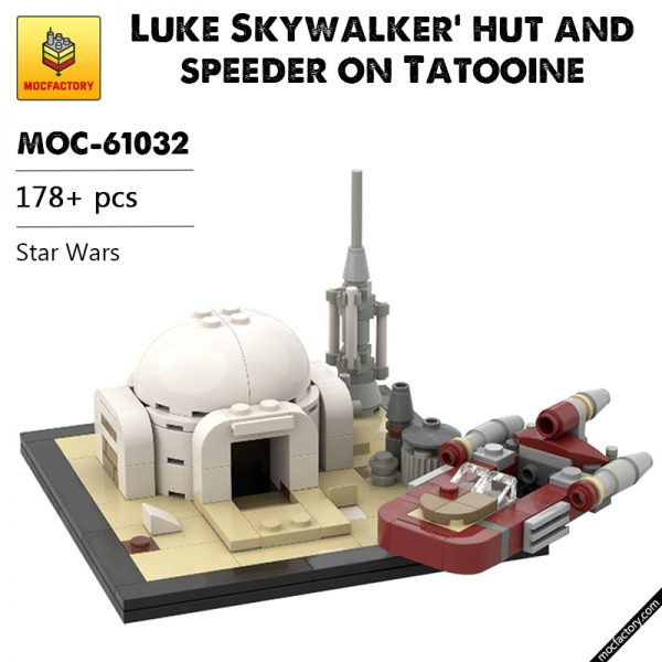MOC 61032 Luke Skywalker hut and speeder on Tatooine Star Wars by u brick MOC FACTORY - MOC FACTORY