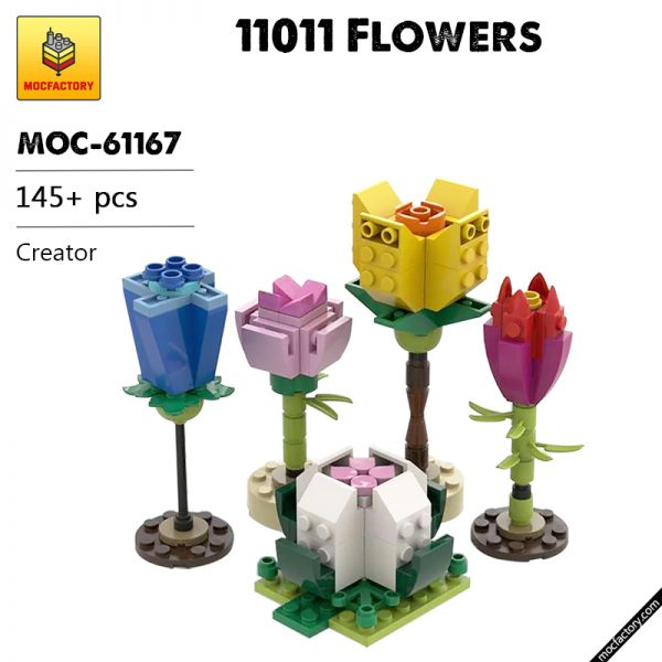 MOC 61167 11011 Flowers Creator by TheLuckyOne MOC FACTORY - MOC FACTORY