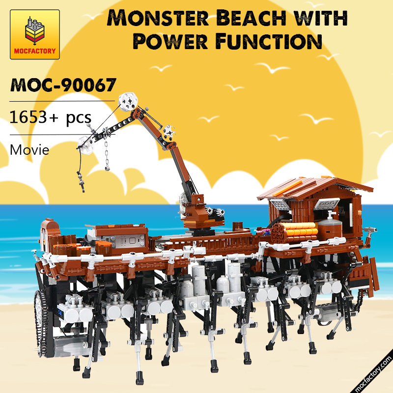 MOC 90067 Monster Beach with Power Function Movie MOC FACTORY 1 - MOC FACTORY