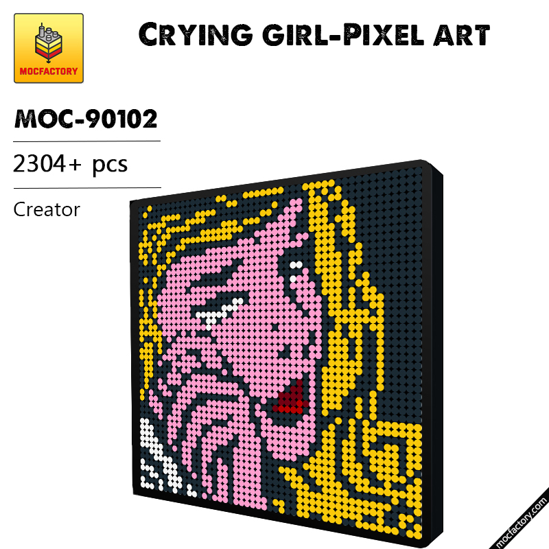 MOC 90102 Crying girl Pixel art Creator MOC FACTORY - MOC FACTORY