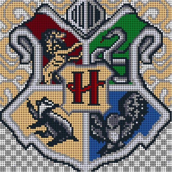 MOC 90107 Harry Potter Crest Pixel art Movie MOC FACTORY 2 - MOC FACTORY