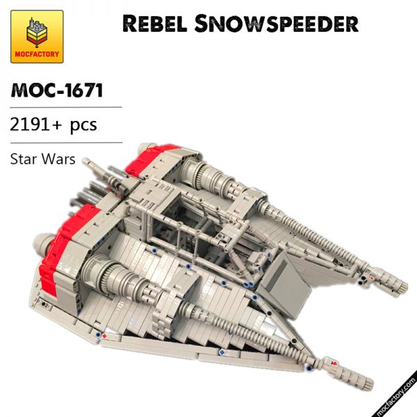 MOC 1671 Rebel Snowspeeder Star Wars by drakmin MOC FACTORY - MOC FACTORY