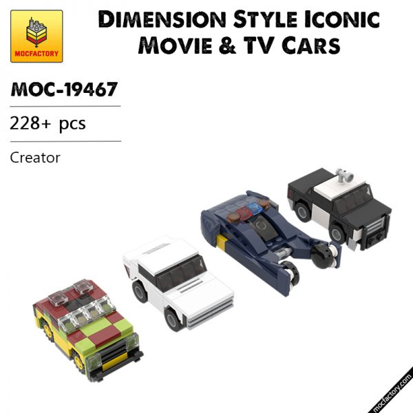 MOC 19467 Dimension Style Iconic Movie TV Cars Creator by MOMAtteo79 MOC FACTORY - MOC FACTORY