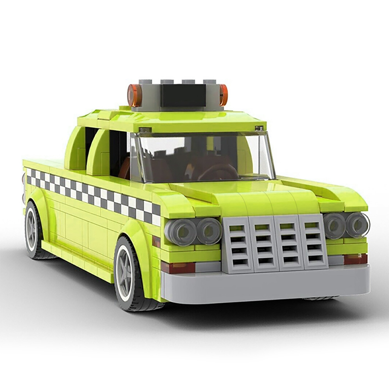 MOC 22002 Taxi Driver 1975 NYC Checker Taxi Cab Technic by mkibs MOC FACTORY 2 - MOC FACTORY