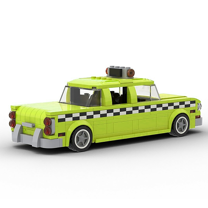 MOC 22002 Taxi Driver 1975 NYC Checker Taxi Cab Technic by mkibs MOC FACTORY 3 - MOC FACTORY