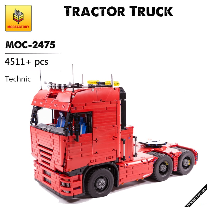 MOC 2475 Tractor Truck Technic by Lucioswitch81 MOC FACTORY - MOC FACTORY