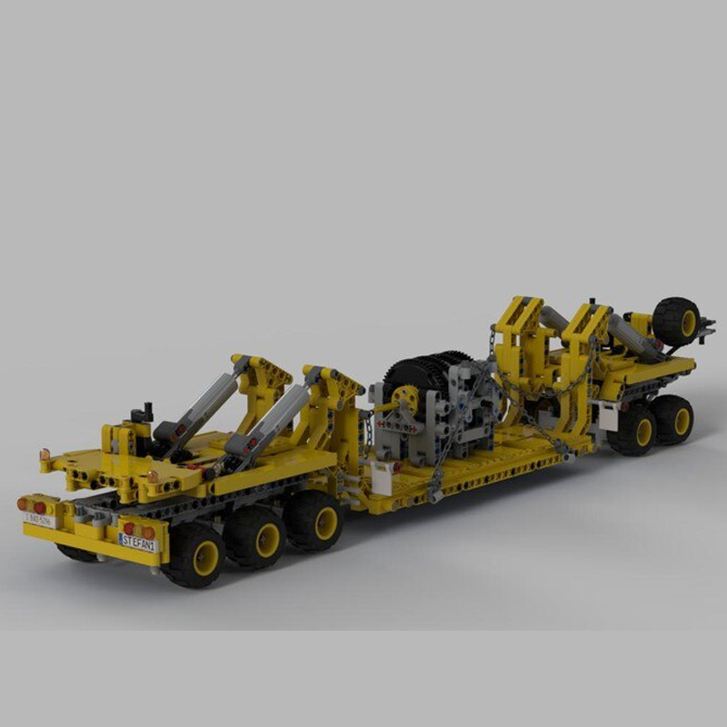 MOC 34732 Oshkosh M1070 Civil Version Tractor with Heavy Duty Trailer Technic by legolaus MOC FACTORY 3 - MOC FACTORY