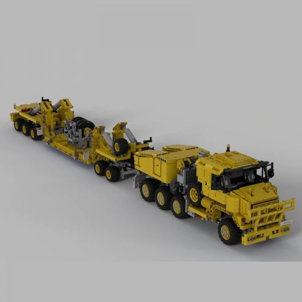 MOC 34732 Oshkosh M1070 Civil Version Tractor with Heavy Duty Trailer Technic by legolaus MOC FACTORY 4 - MOC FACTORY